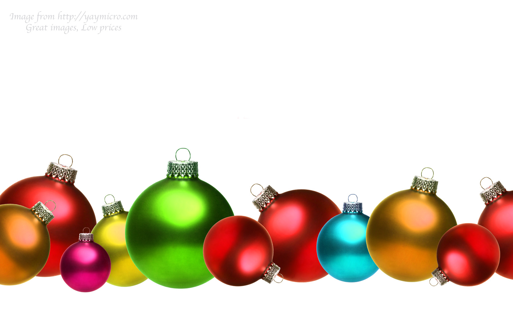 Colored christmas glass balls isolated on white – Mid South Ice ...
