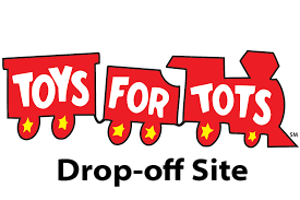 Toys for Tots logo drop off site